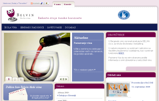 Website škole vina BELVIN